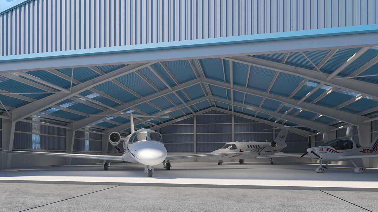 airplane hangar swedsteel