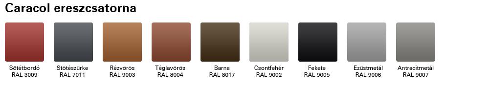 Swedsteel ereszcsatorna színek