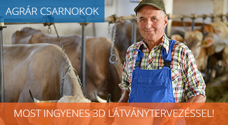 Agrár csarnokok ingyenes 3D látványtervezéssel