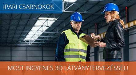 Ipari csarnokok ingyenes 3D látványtervezéssel