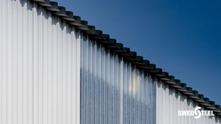 Síkpadozatos terménytároló Swedsteel burkolattal és másodlagos teherhordó szerkezettel