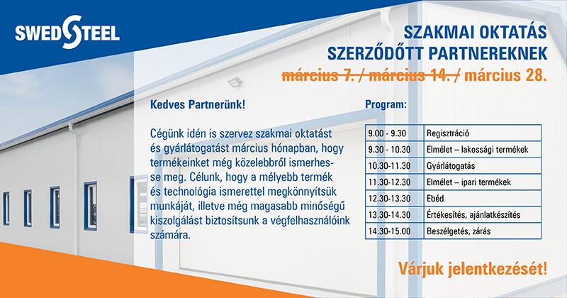 Swedsteel gyárlátogatás és szakmai oktatás szerződött partnereknek