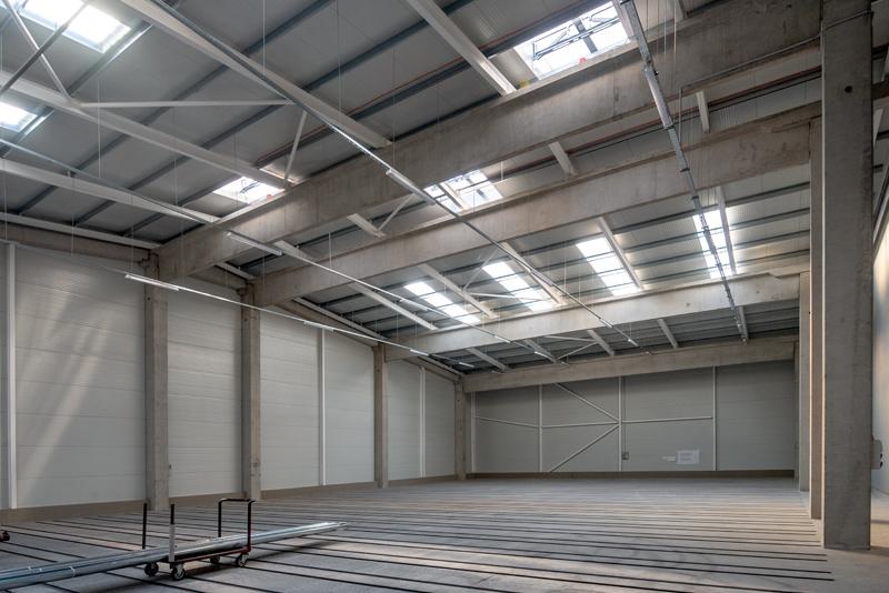 Zambelli Swedsteel raktárcsarnok belső